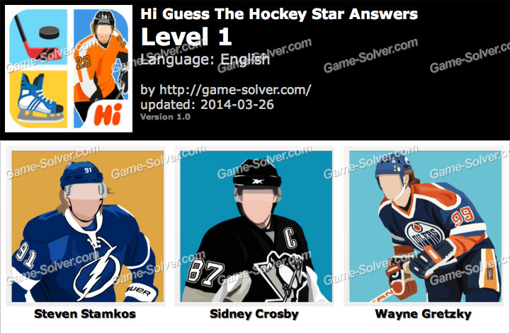 Hi Guess The Hockey Star Level 1