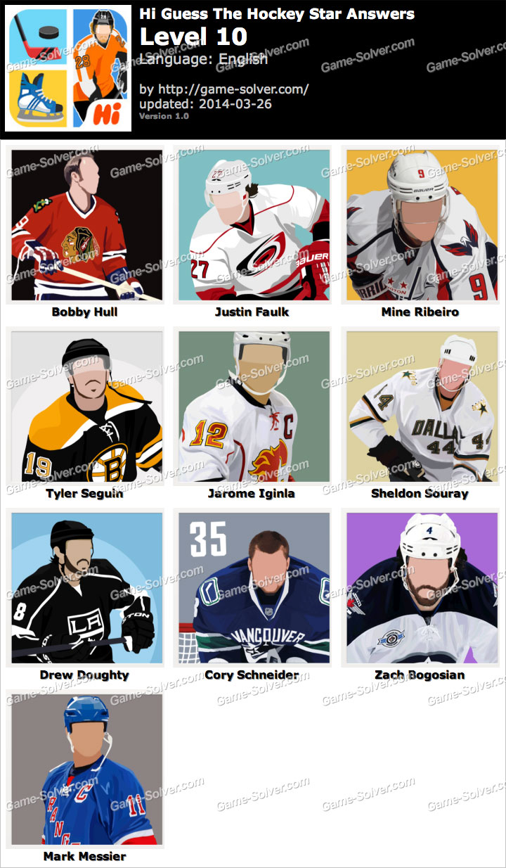 Hi Guess The Hockey Star Level 10
