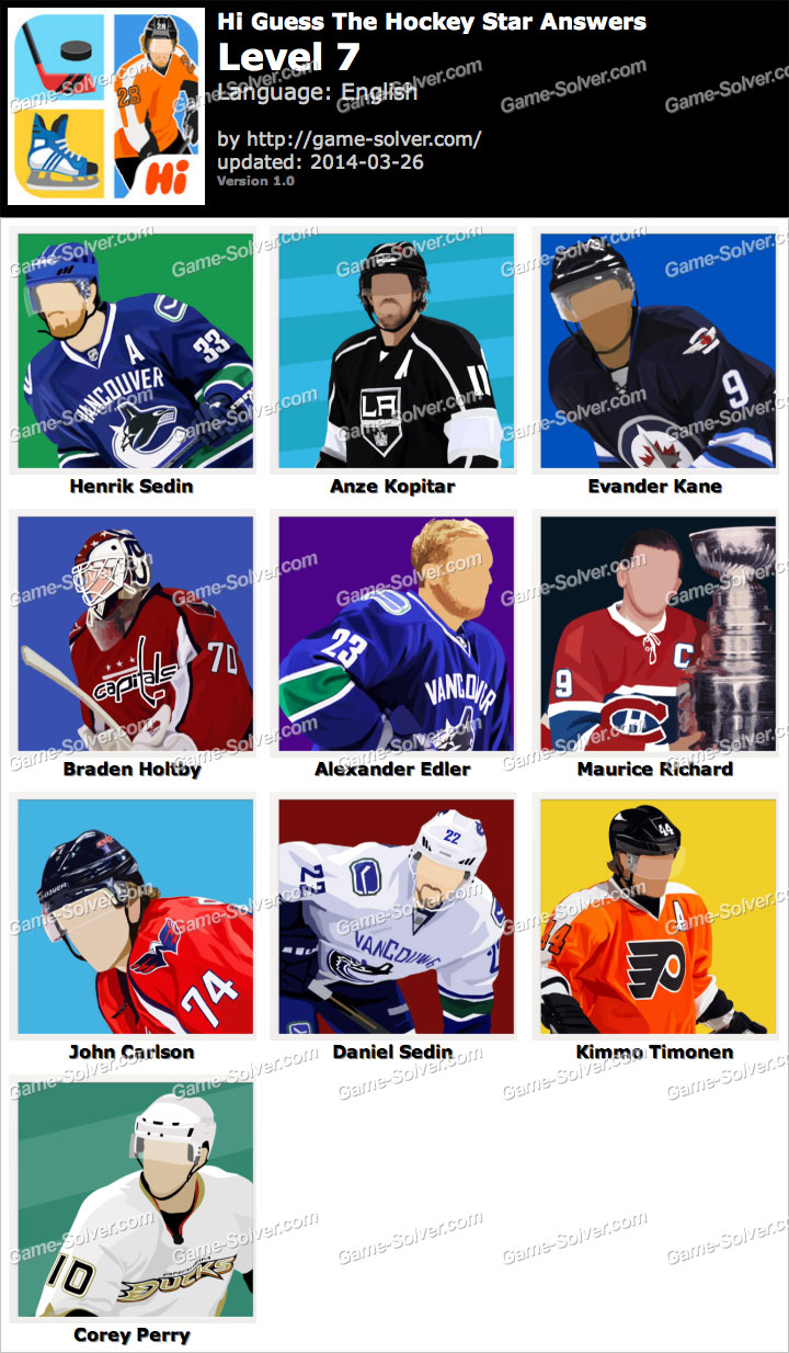 Hi Guess The Hockey Star Level 7