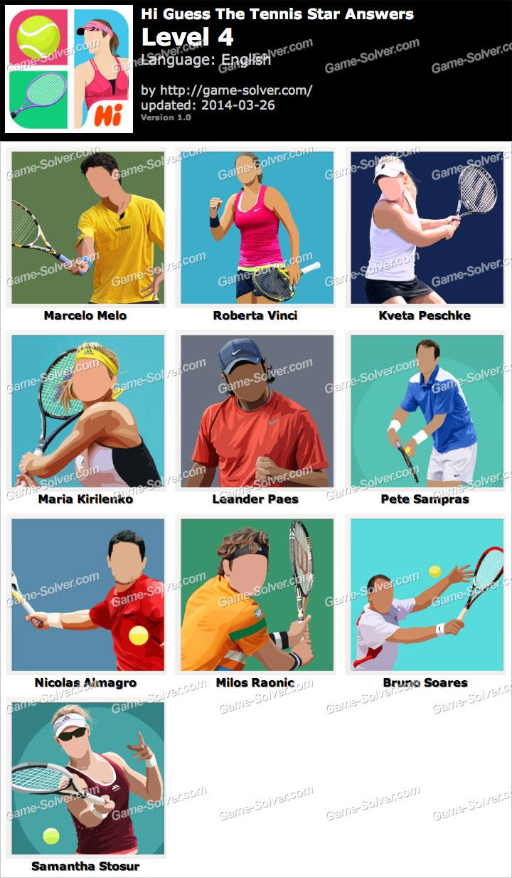 Hi Guess The Tennis Star Level 4