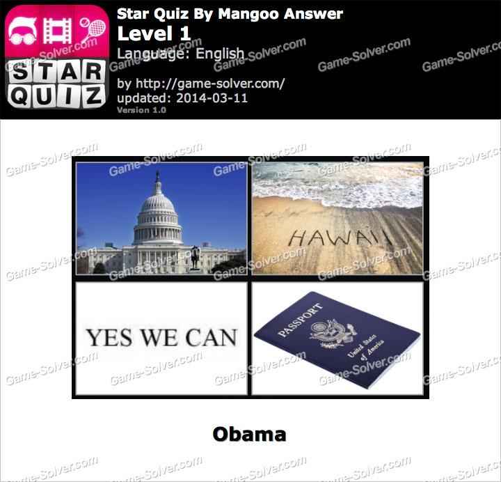 Star Quiz Mangoo Level 1