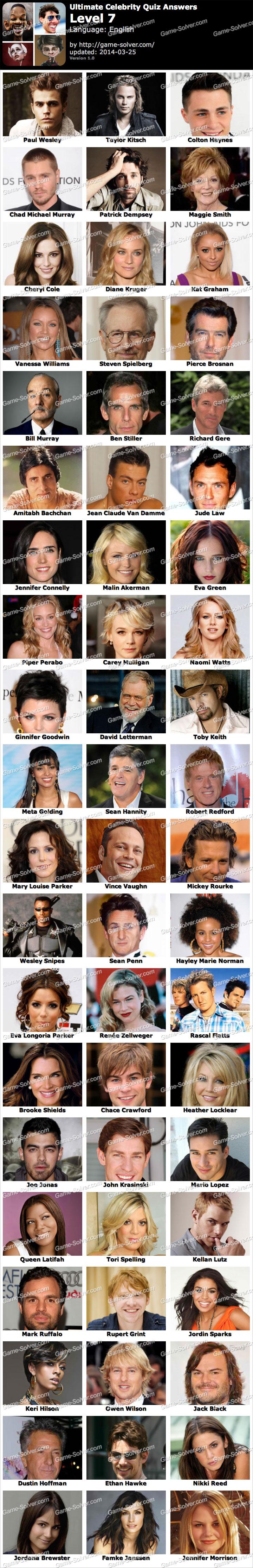 Ultimate Celebrity Quiz Level 7