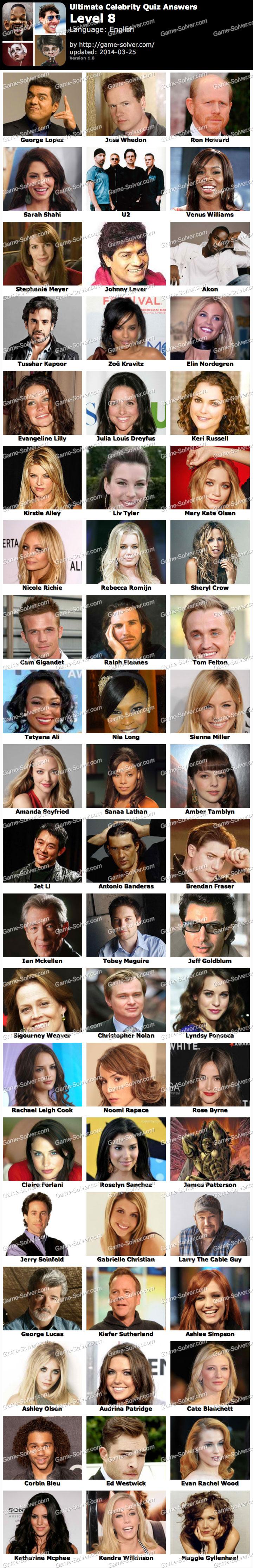 Ultimate Celebrity Quiz Level 8