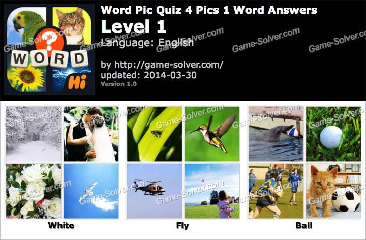 Word Pic Quiz 4 Pics 1 Word Level 1