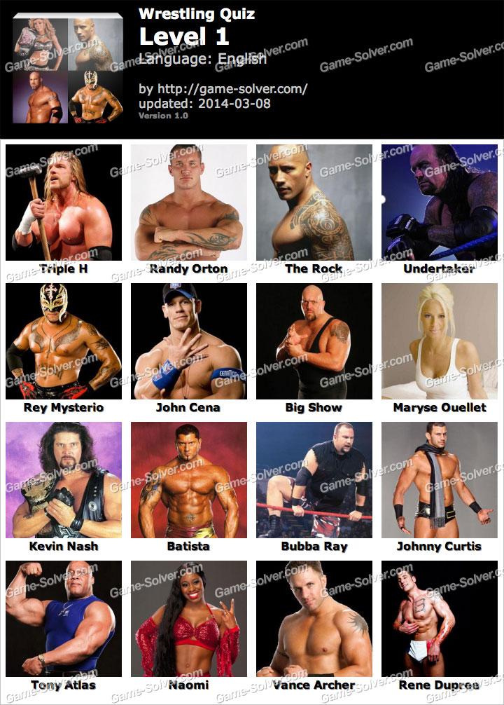 Wrestling Quiz Level 1