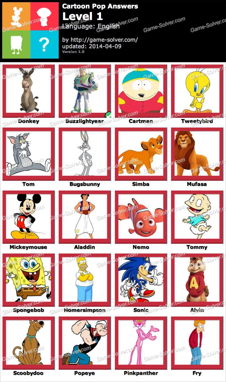 Cartoon Pop Level 1