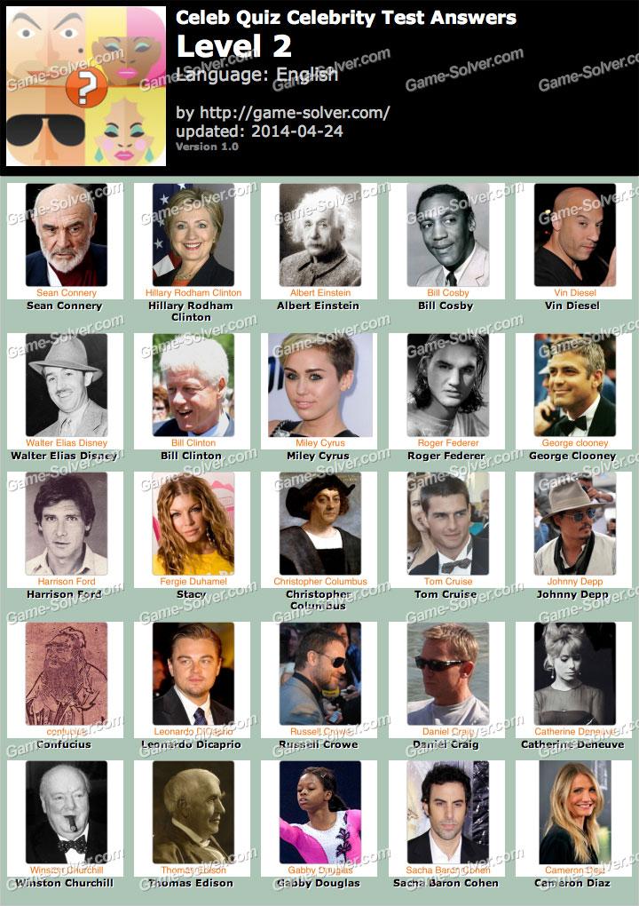 Celeb Quiz Celebrity Test Level 2