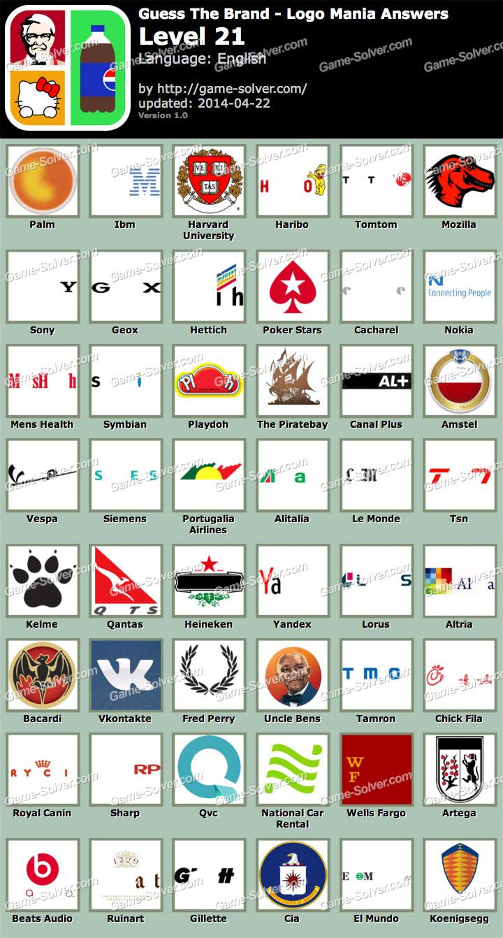 Logos Level 21 : logos, level, Guess, Brand, Mania, Level, Solver