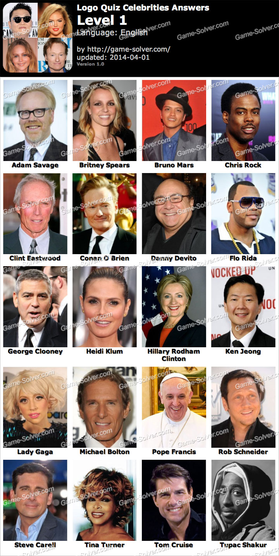 Logo Quiz Celebrities Level 1