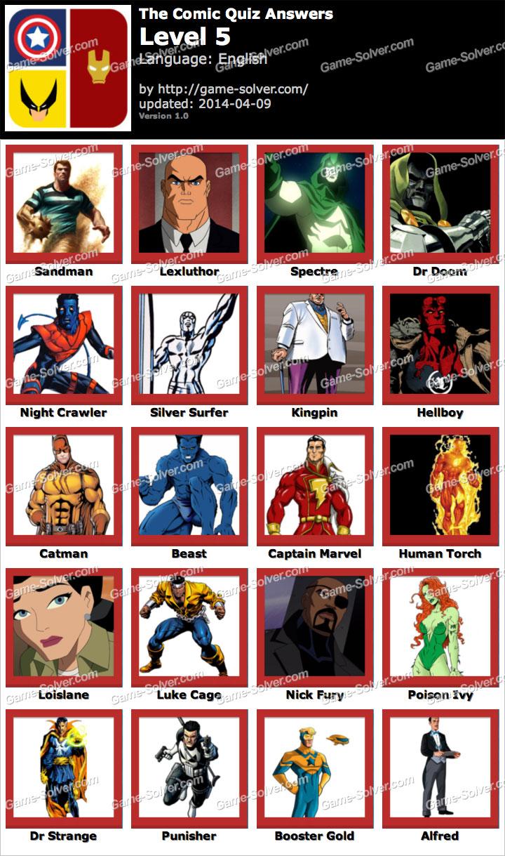 The Comic Quiz Level 5