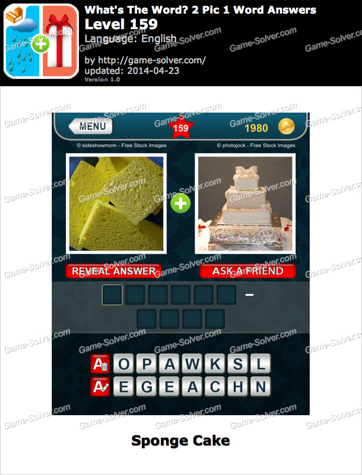 What's The Word 2 Pic 1 Word Level 159