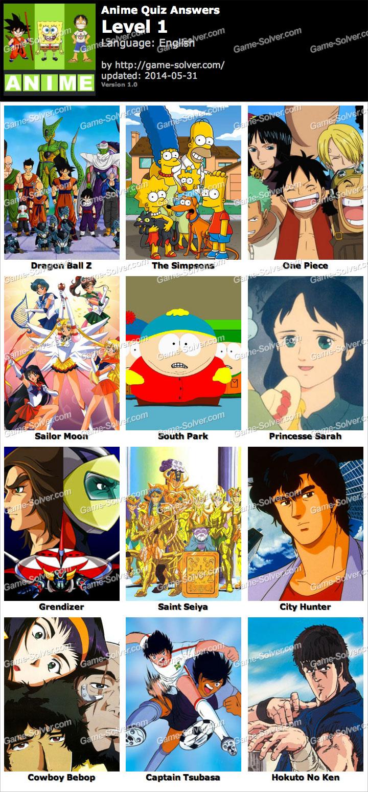 Anime Quiz Level 1
