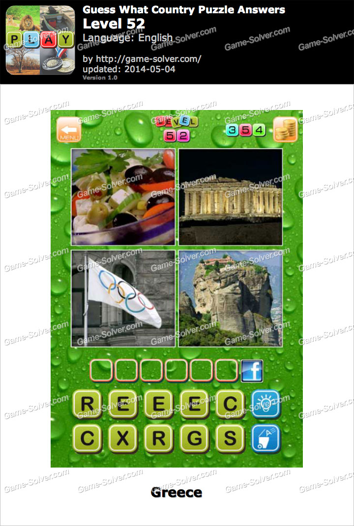 Guess What Country Puzzle Level 52