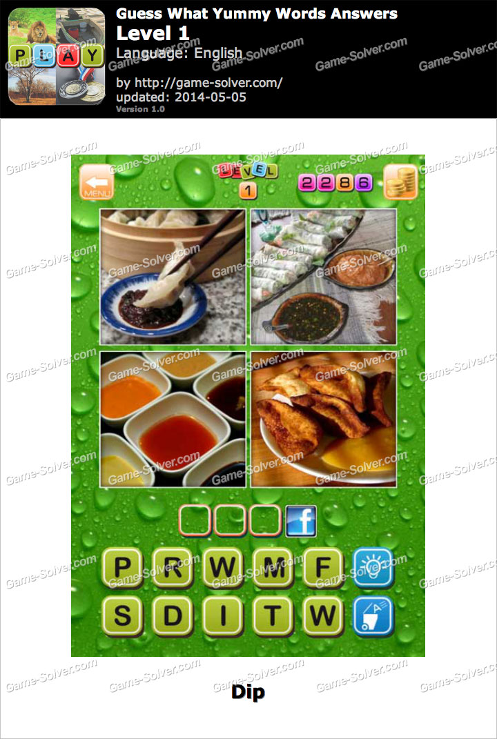 Guess What Yummy Words Level 1