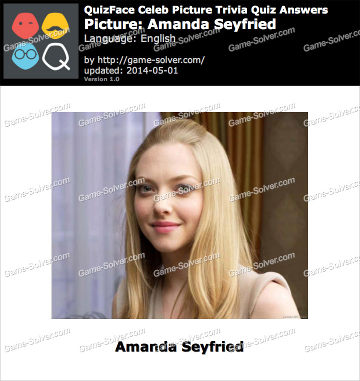 QuizFace Level Amanda Seyfried