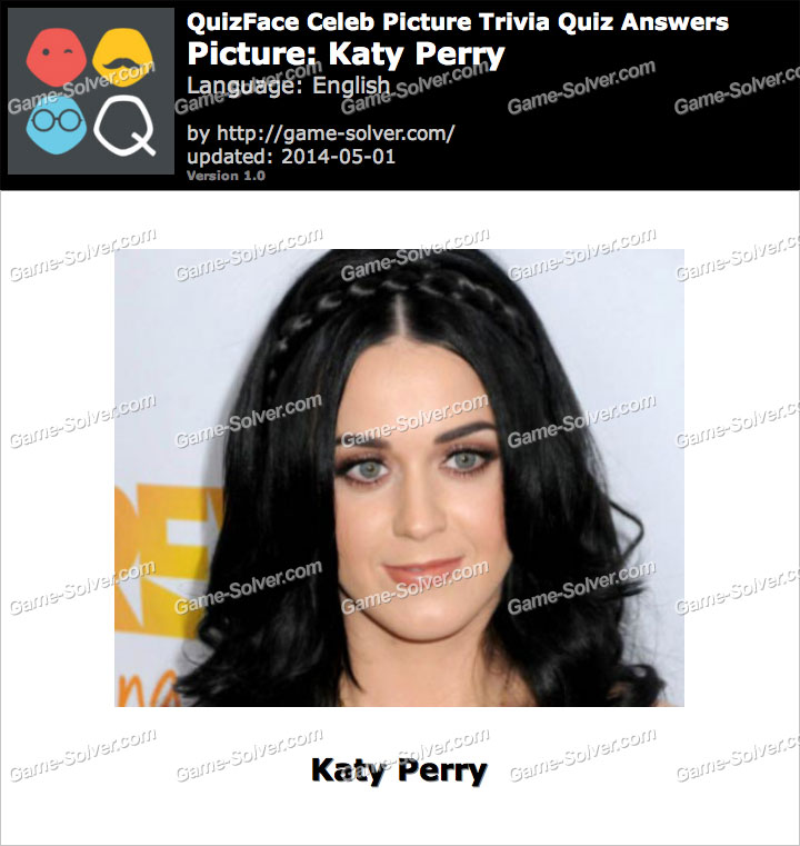 QuizFace Level Katy Perry