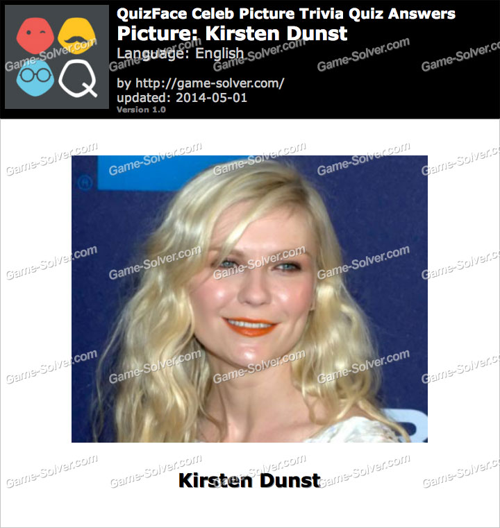 QuizFace Level Kirsten Dunst