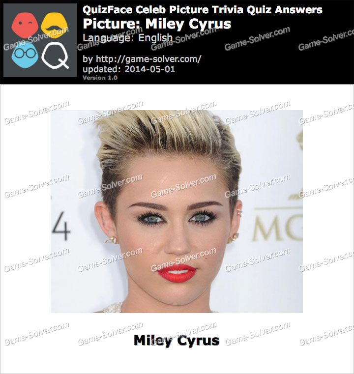 QuizFace Level Miley Cyrus