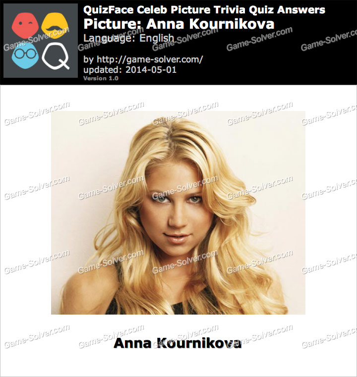 QuizFace Level Anna Kournikova