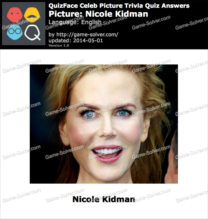 QuizFace Level Nicole Kidman