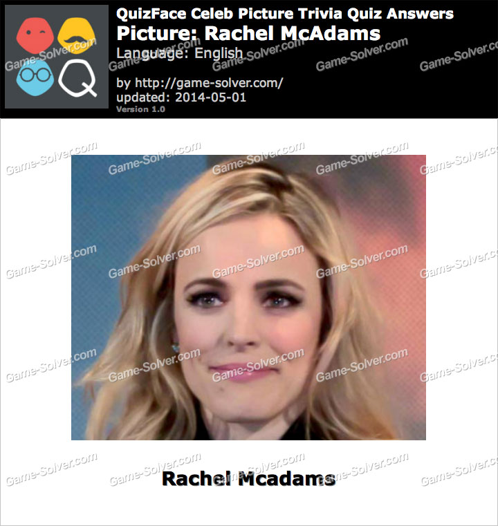 QuizFace Level Rachel McAdams