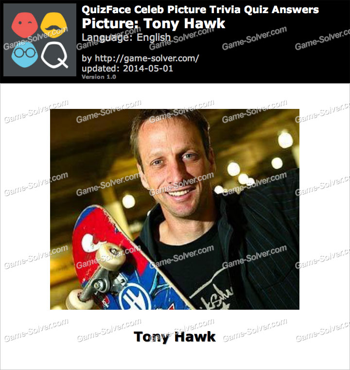 QuizFace Level Tony Hawk