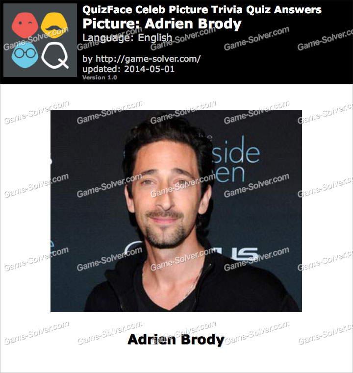 QuizFace Level Adrien Brody