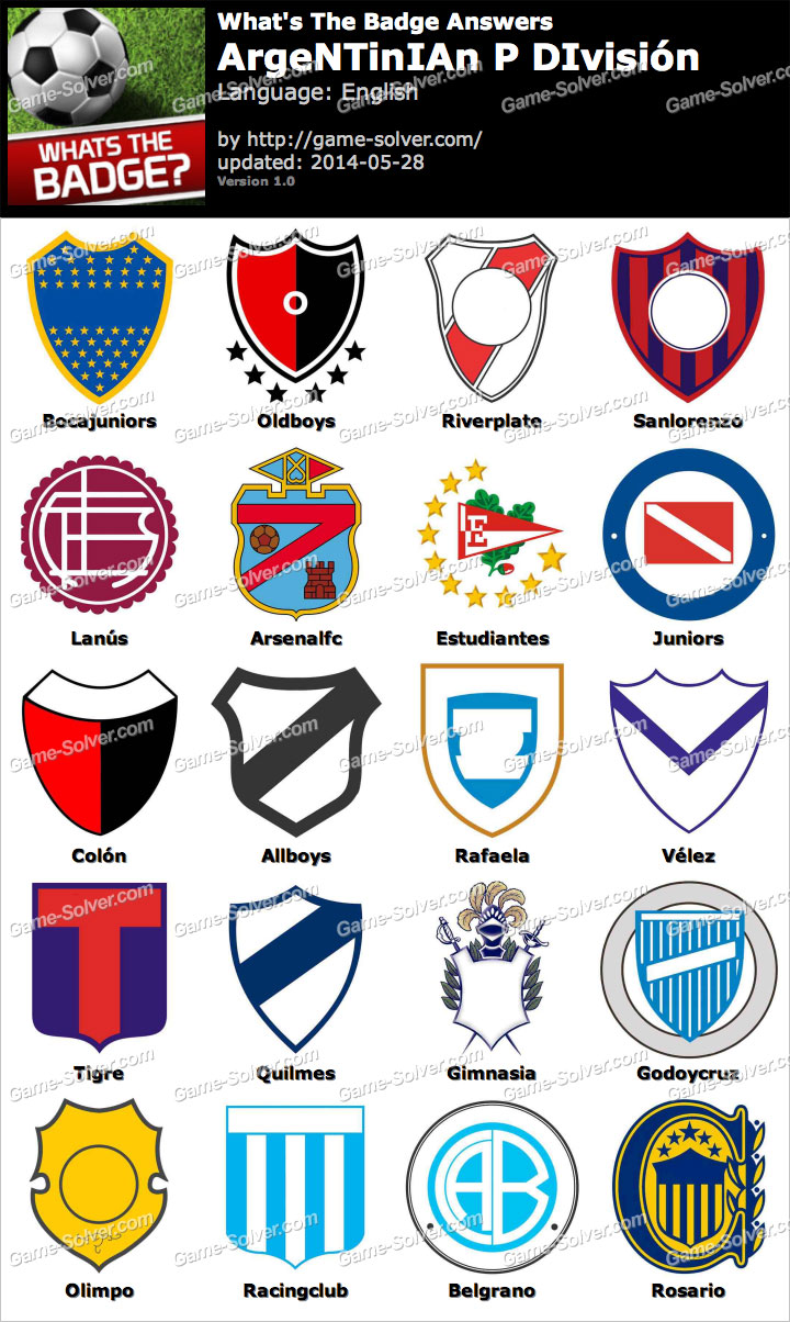 Whats The Badge Argentinian P División Answers