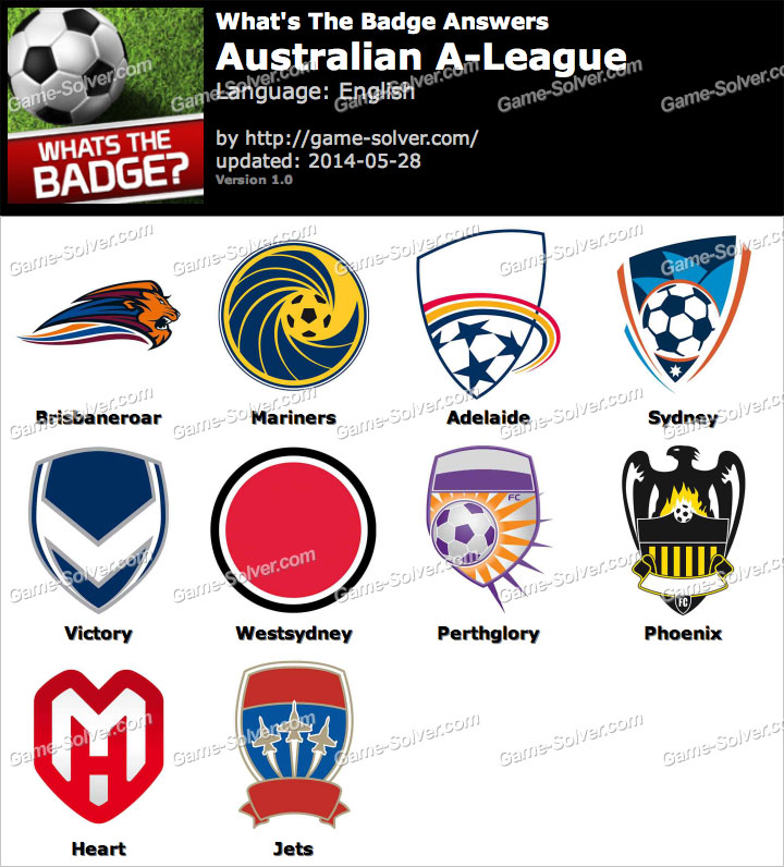 Whats The Badge Australian A-League Answers