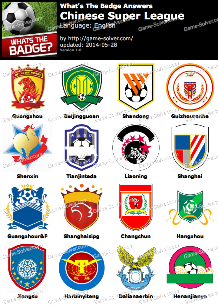 Whats The Badge Chinese Super League Answers