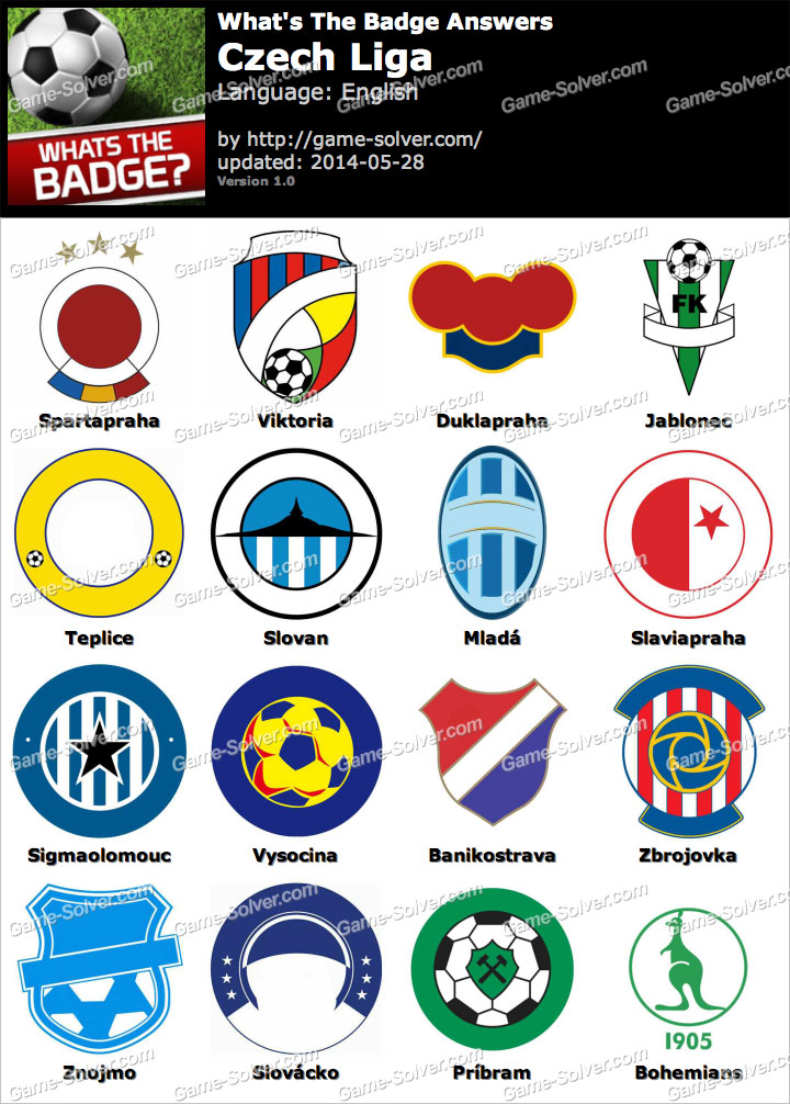 Whats The Badge Czech Liga Answers