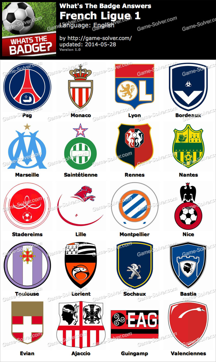 Whats The Badge French Ligue 1 Answers