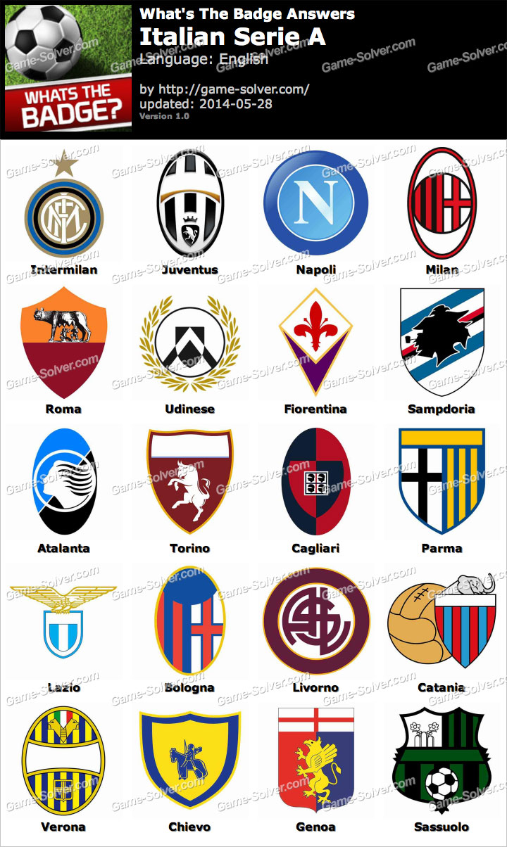 Whats The Badge Italian Serie A Answers