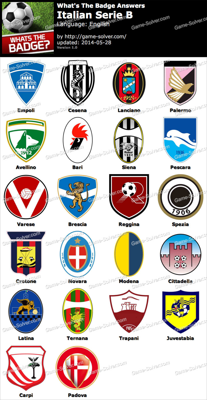 Whats The Badge Italian Serie B Answers