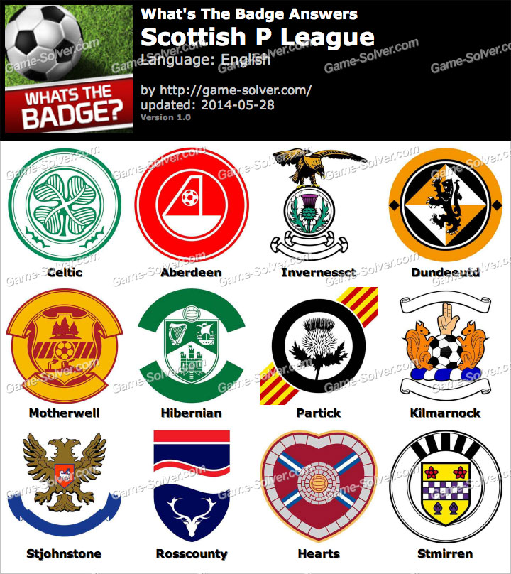 Whats The Badge Scottish P League Answers