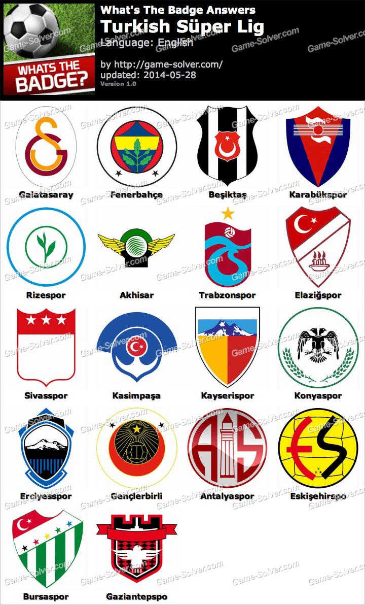 Whats The Badge Turkish Süper Lig Answers