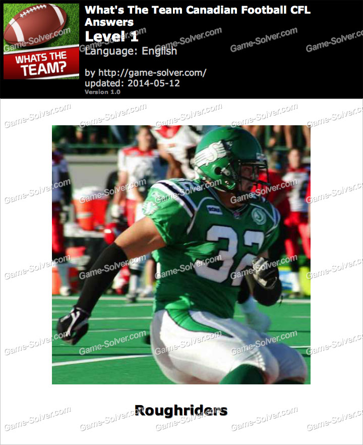 What's The Team Canadian Football CFL Level 1
