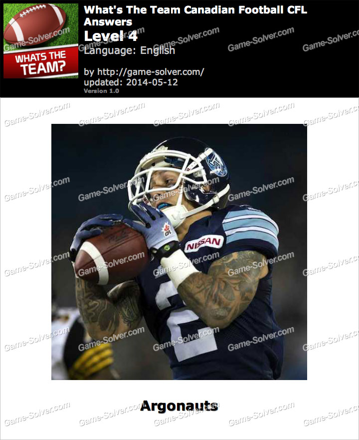 What's The Team Canadian Football CFL Level 4
