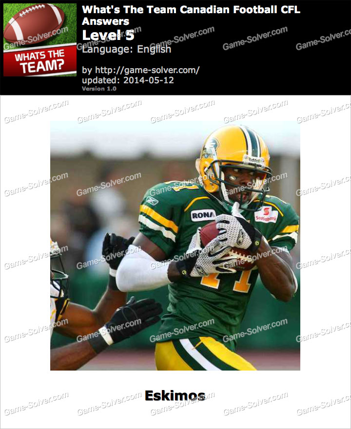 What's The Team Canadian Football CFL Level 5