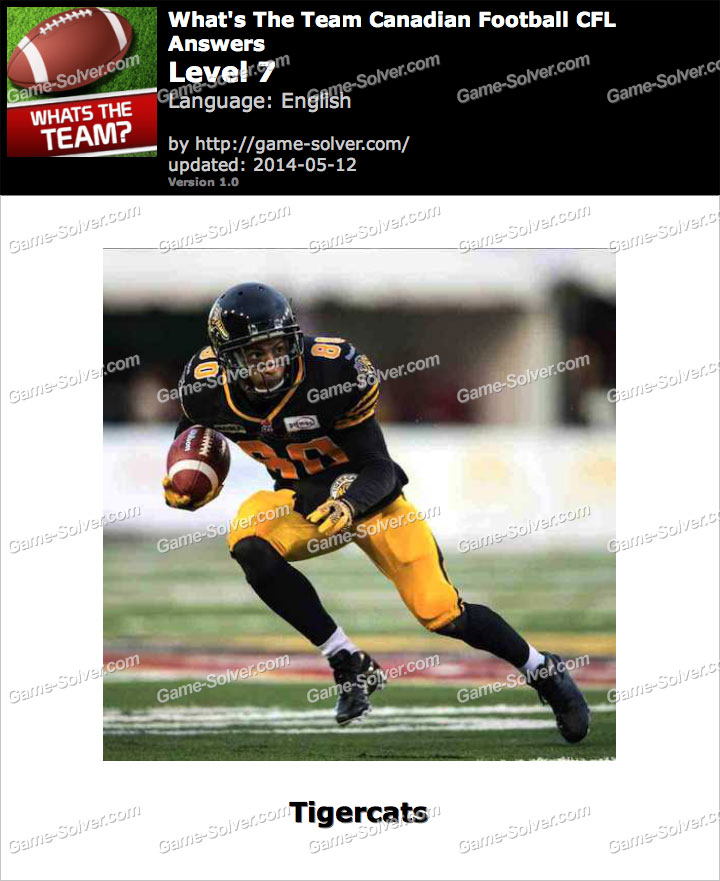 What's The Team Canadian Football CFL Level 7