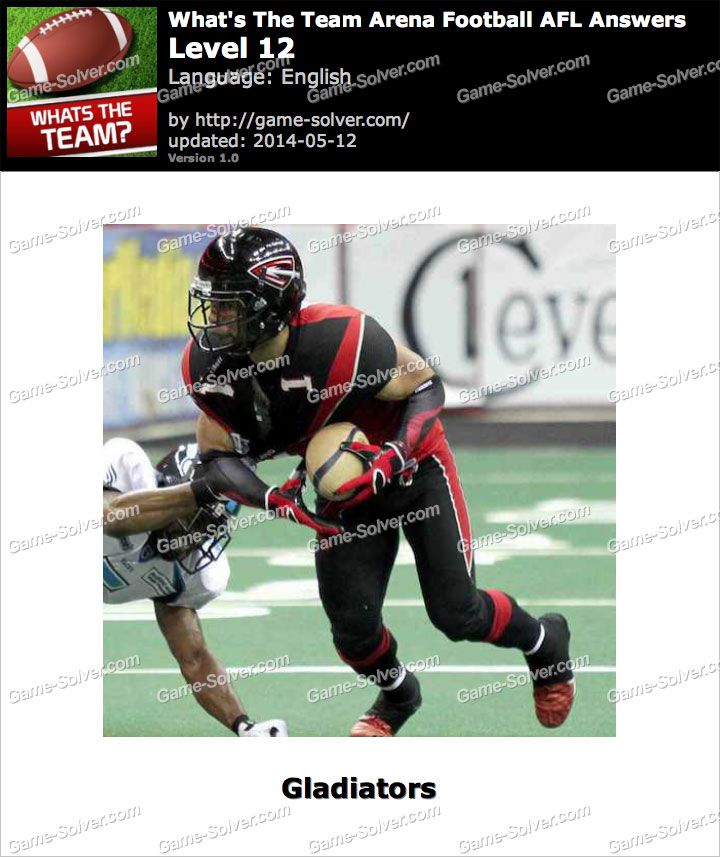 What's The Team Arena Football AFL Level 12