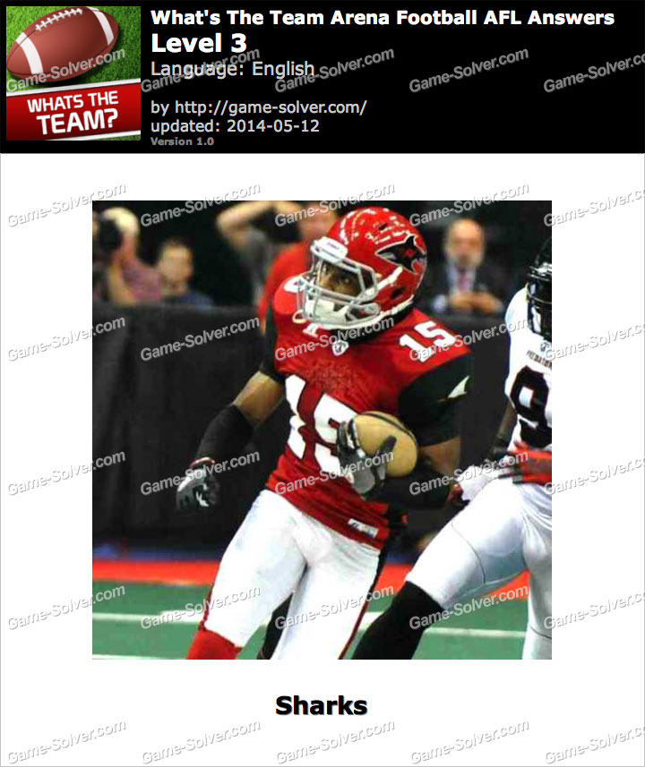What's The Team Arena Football AFL Level 3
