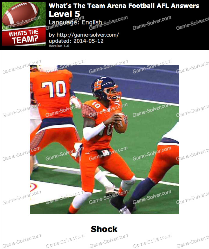 What's The Team Arena Football AFL Level 5