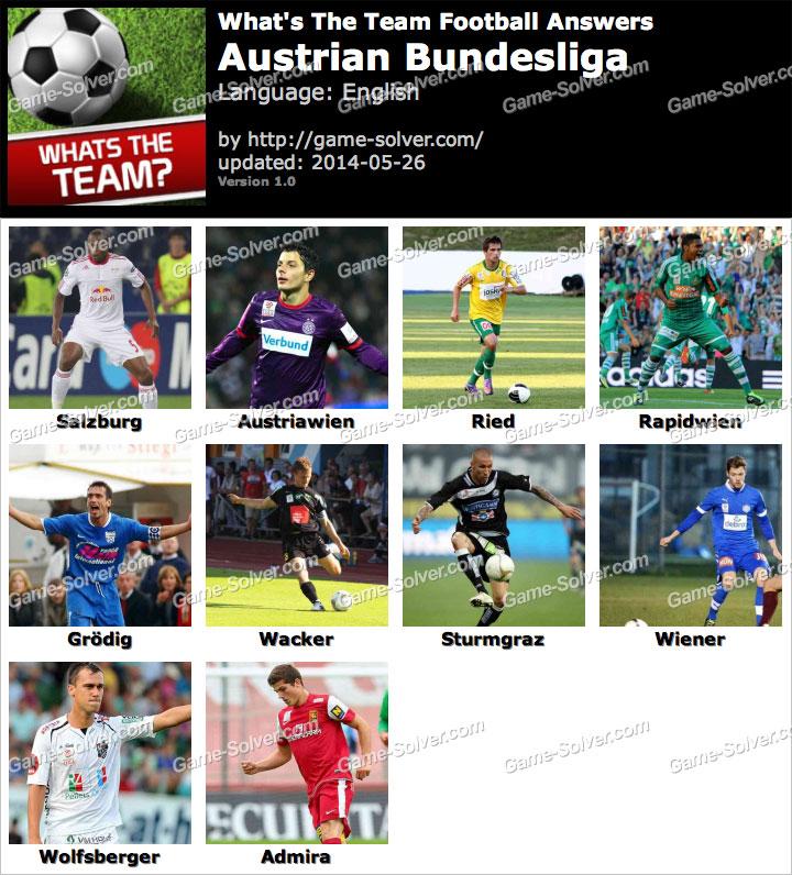 What's The Team Austrian Bundesliga Answers