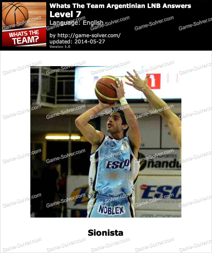 Whats The Team Argentinian LNB Level 7