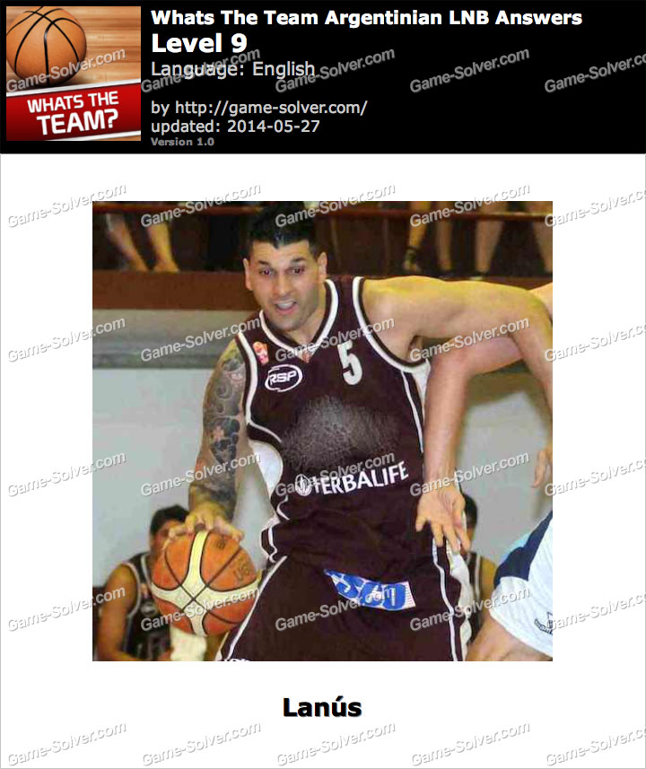 Whats The Team Argentinian LNB Level 9