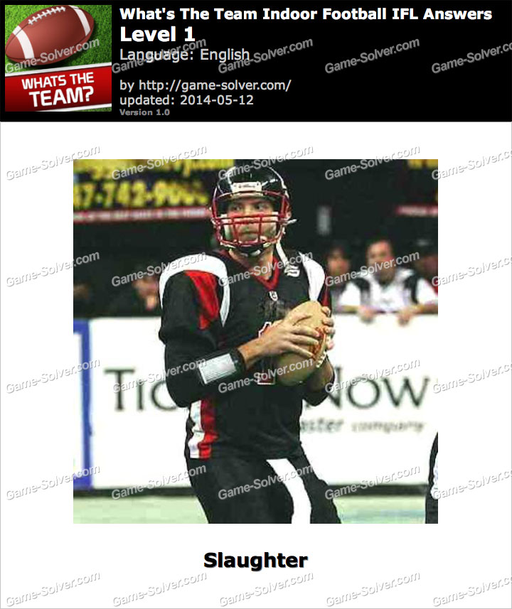 What's The Team Indoor Football IFL Level 1