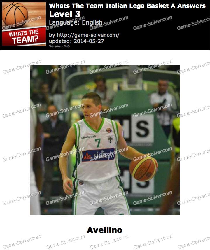 Whats The Team Italian Lega Basket A Level 3