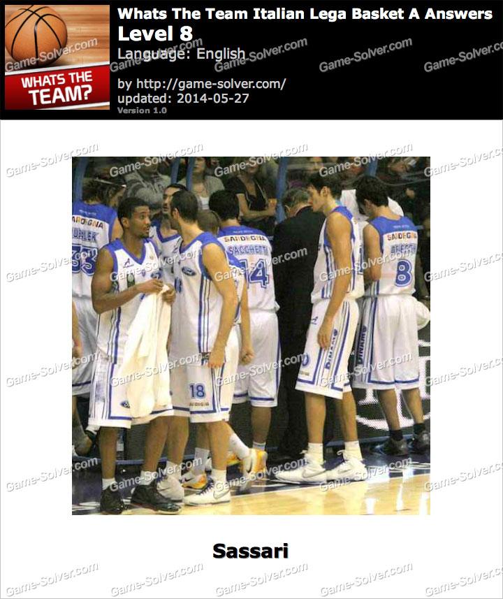 Whats The Team Italian Lega Basket A Level 8