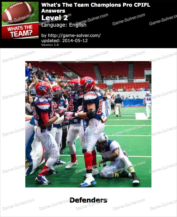 What's The Team Champions Pro CPIFL Level 2